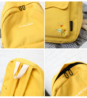 Sunflower Backpack - Pink, Mint, Yellow, Black