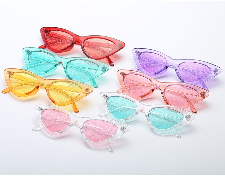 Glitter Small Cateye Sunglasses