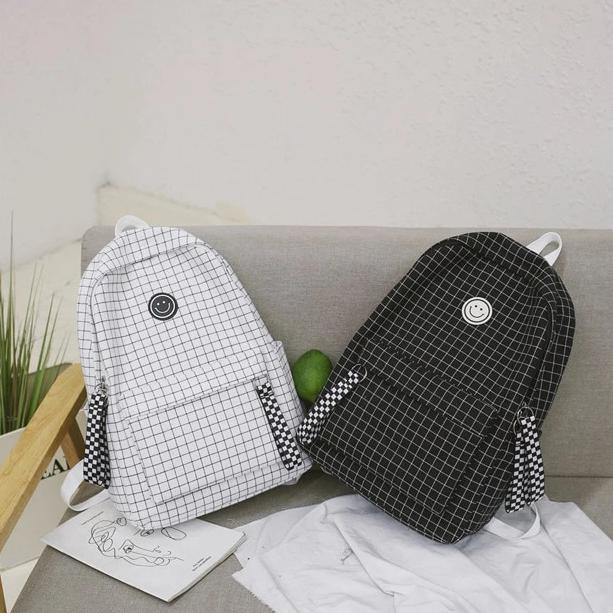 Pattern Type: Plaid Style: Casual Model Number: C0698 Rain Cover: No Item Type: Backpacks Lining Material: Polyester Exterior: Solid Bag Interior: Interior Compartment Interior: Computer Interlayer Interior: Interior Zipper Pocket Interior: Interior Slot Pocket Interior: Cell Phone Pocket