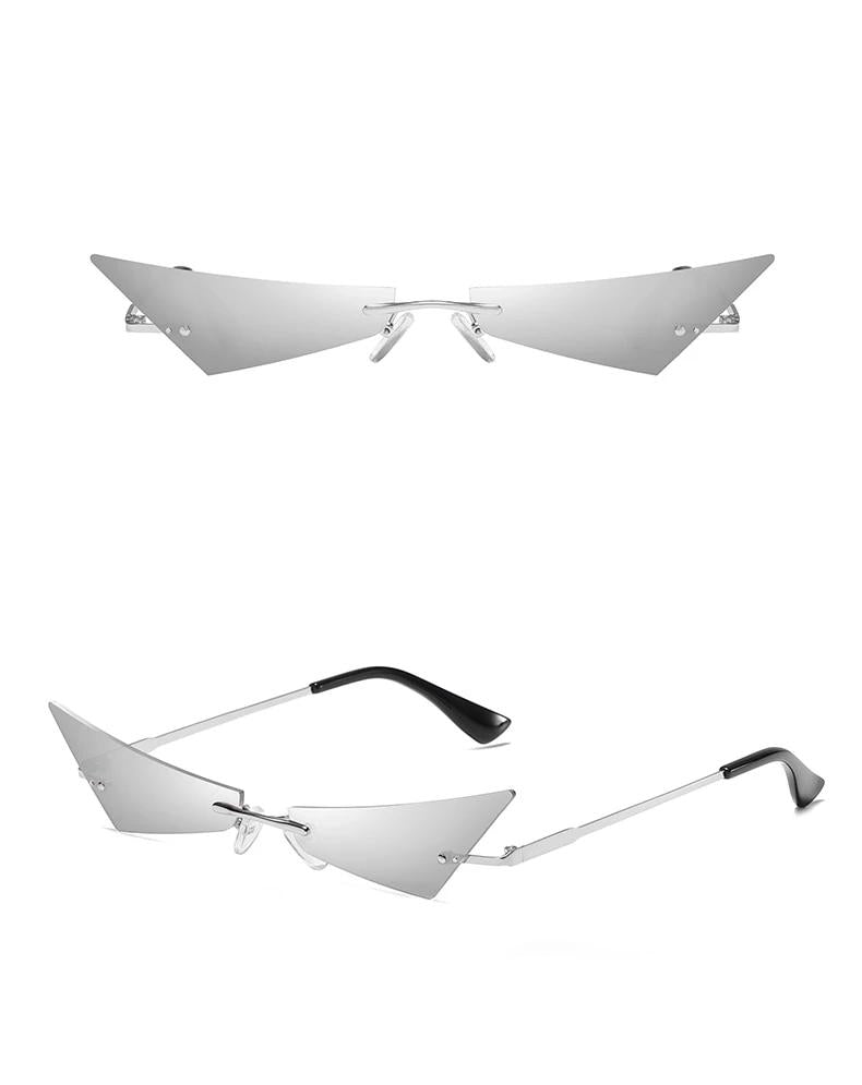 Funky Rimless Cat Eye Shades