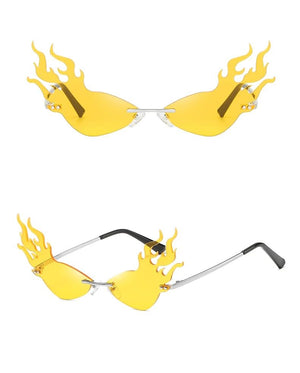 Transparent Flame-Shaped Sexy Shades