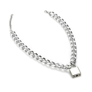 Necklace Type: Pendant Necklaces Gender: Women Item Type: Necklaces Compatibility: All Compatible Fine or Fashion: Fashion Model Number: chain necklace Style: TRENDY Occasion: Party Chain Type: Link Chain Material: Metal is_customized: No Shape\pattern: Lock