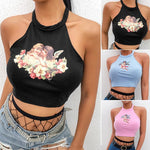 Arthoe Halterneck Angel Crop Top