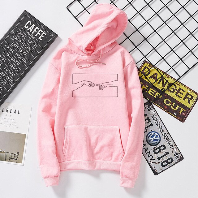 Creation Line Art Pullover/Hoodie - White, Black, Red, Pink, Grey