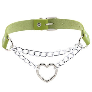 Heart Chain Choker - Various Colors