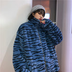 Blue & Yellow Tiger Coat