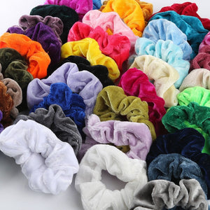 40 Colorful Velvet Scrunchies
