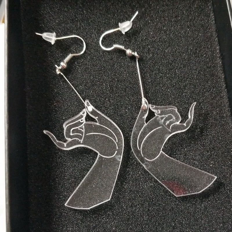 Transparent Hand Earring
