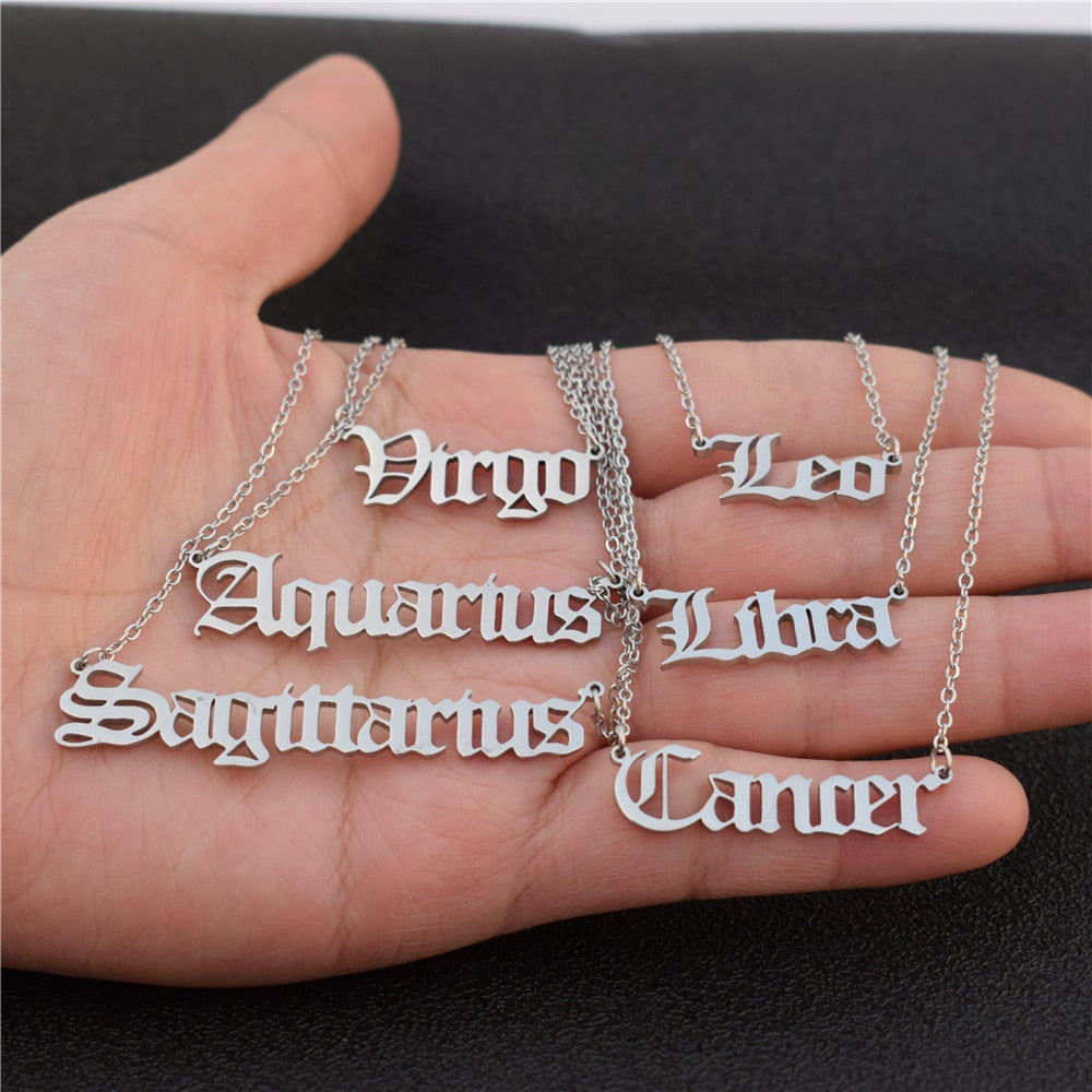 Libra - Zodiac Letter Necklace