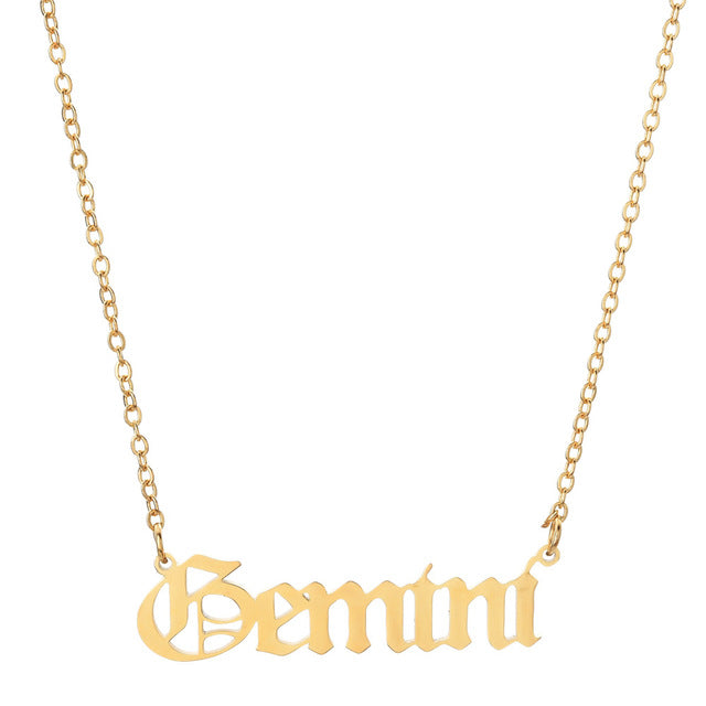 Gemini - Zodiac Letter Necklace