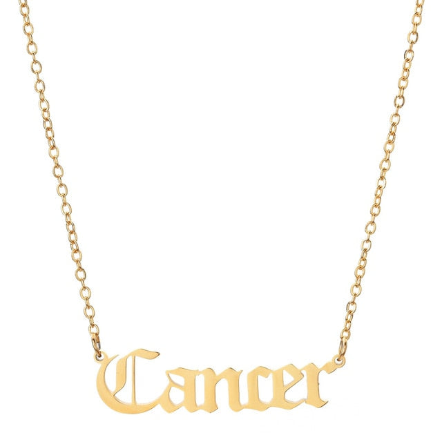 Cancer - Zodiac Letter Necklace