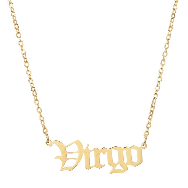 Virgo - Zodiac Letter Necklace