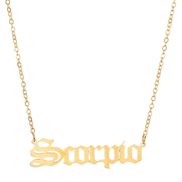 Scorpio - Zodiac Letter Necklace