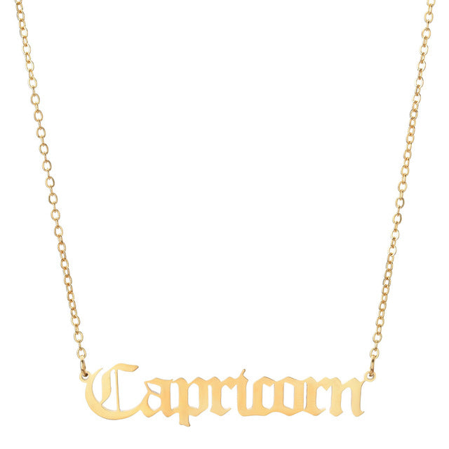 Capricorn - Zodiac Letter Necklace