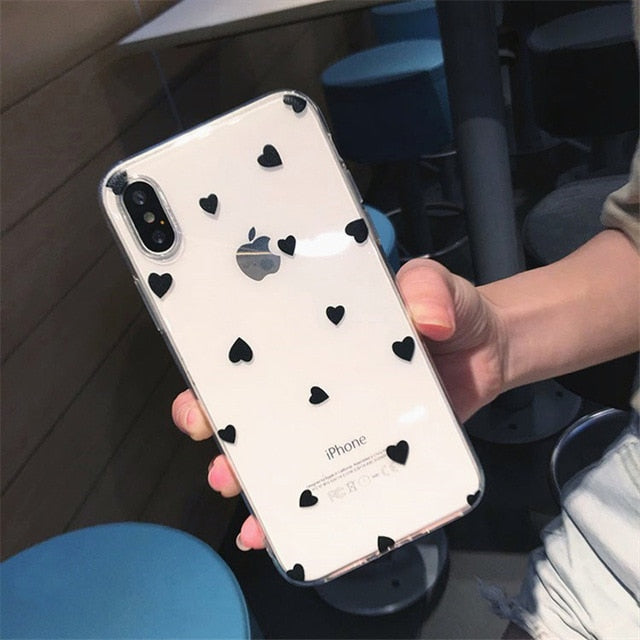 Clear Hearts & Love iPhone Case