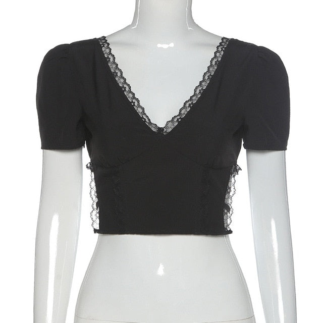 Dark Gothic Sexy Crop Top
