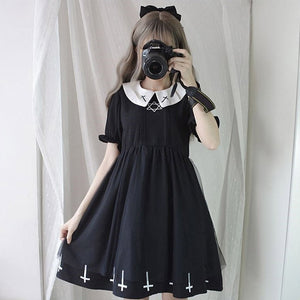 Gothic Lolita Star Tulle Dress
