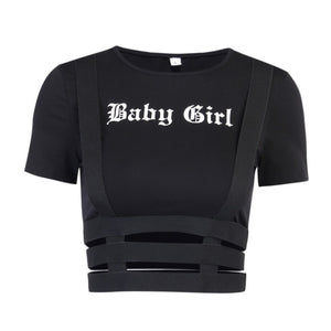 Goth Streetwear Hollow Out T-Shirt