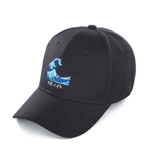 Japanese Wave Art Cap