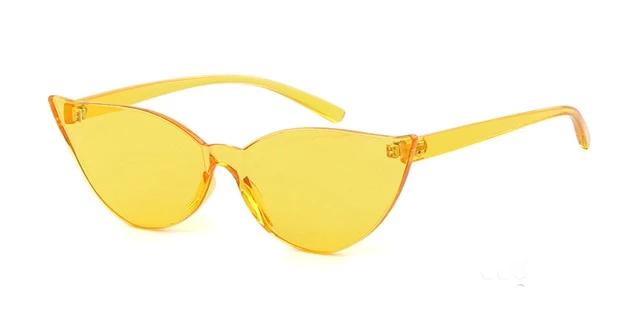 Transparent Rimless Cat Eye Sunglasses - Various Colors