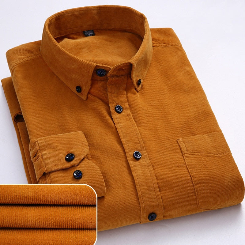 Corduroy long sleeved button down