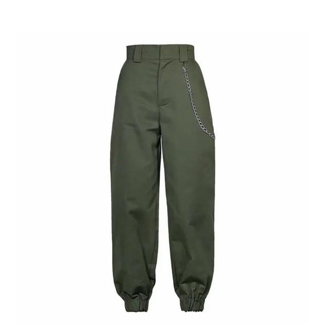Brand Name: ASECEEDS Length: Ankle-Length Pants Material: Spandex Material: Polyester Material: COTTON Closure Type: Zipper Fly Front Style: Flat Model Number: spring 2018 fashion pants Waist Type: High Gender: Women Pattern Type: Solid Style: High Street Fabric Type: Broadcloth Pant Style: Cargo Pants Fit Type: Loose Decoration: Pleated Decoration: Fake Zippers Decoration: Button Type: joggers women Style: cargo pants women
