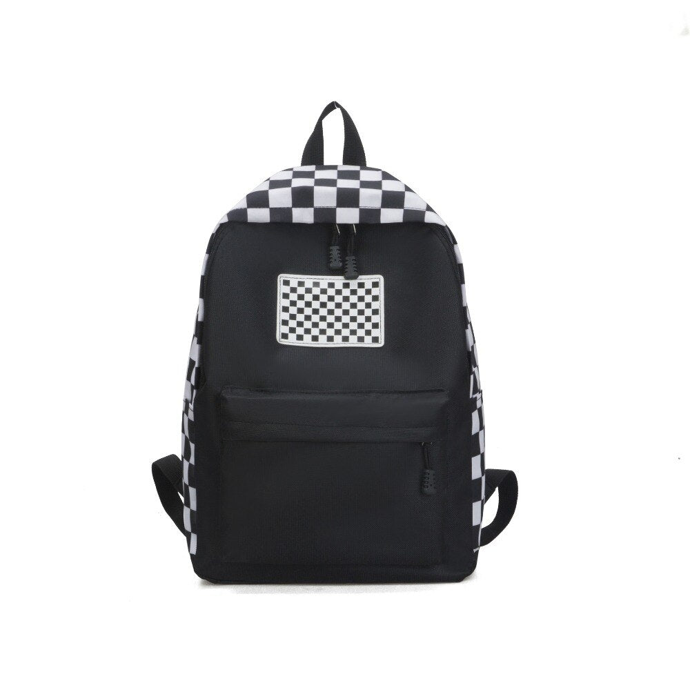 Item Type: Backpacks Gender: Unisex Backpacks Type: Softback Decoration: None Style: vintage Rain Cover: No Exterior: Solid Bag Closure Type: zipper Capacity: Below 20 Litre Pattern Type: Plaid Interior: Interior Compartment