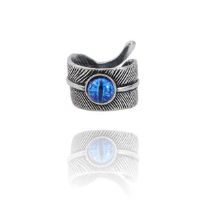 Snake Evil Eye Ring - Blue