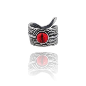 Snake Evil Eye Ring - Red