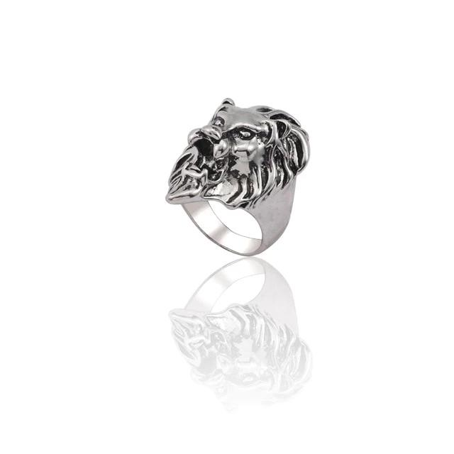 Metal Full Lion Ring