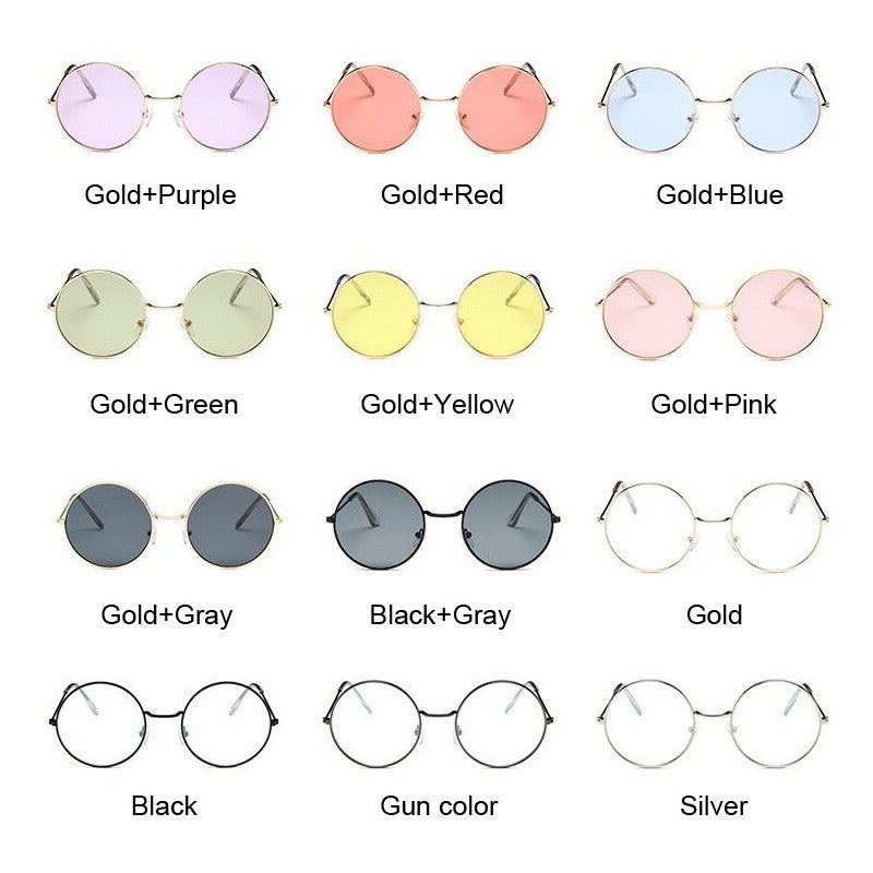 Vintage Round Glasses - Various Colors