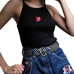 egirl small demon crop top