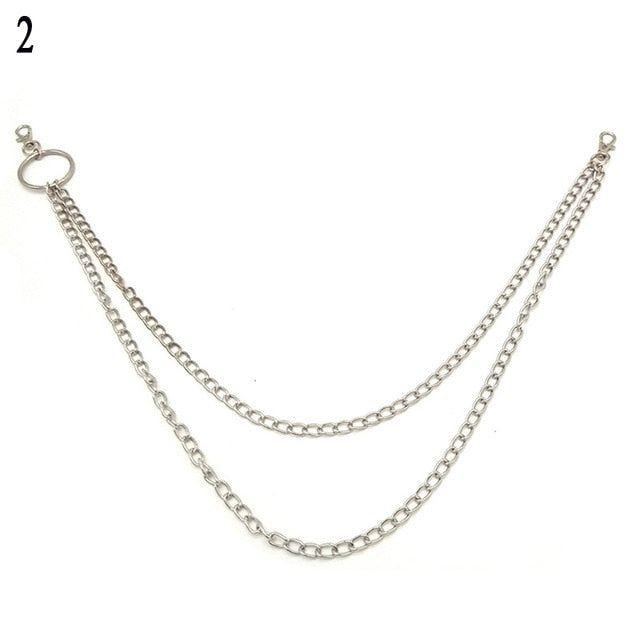 1-3 Layer Punk Hook Link Chains for Trouser Pants