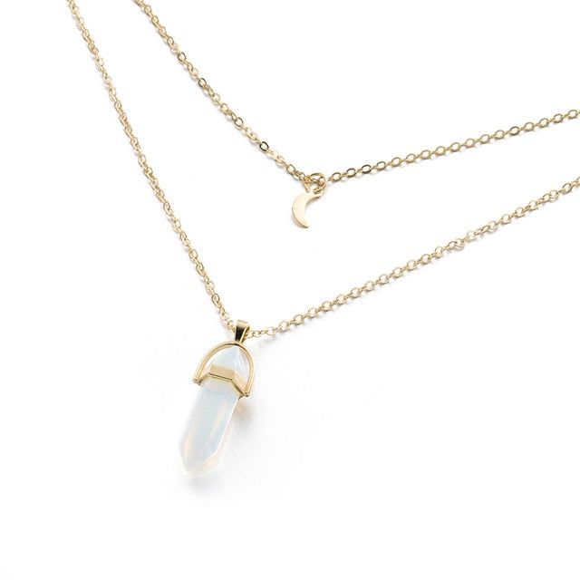 Quartz/Opal Necklace - Various Colors