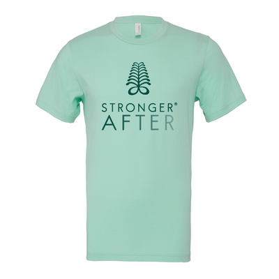 """Fresh Mint"" Stronger After Unisex Jersey Short Sleeve Tee"