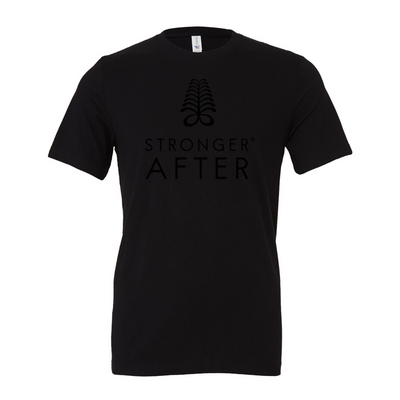 """All Black everything"" Stronger After Unisex  Short Sleeve tee"