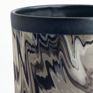 Black Marble Pot Medium
