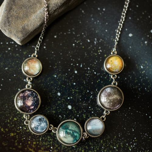 Moons of the Solar System Double Sided Necklace