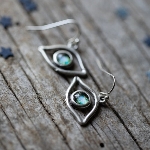 Eye of God Galaxy Earrings