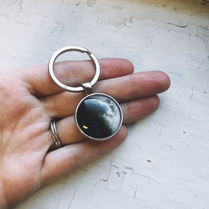 Double Sided Birth Moon Keychain
