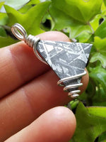 Etched Gibeon Meteorite Pendant