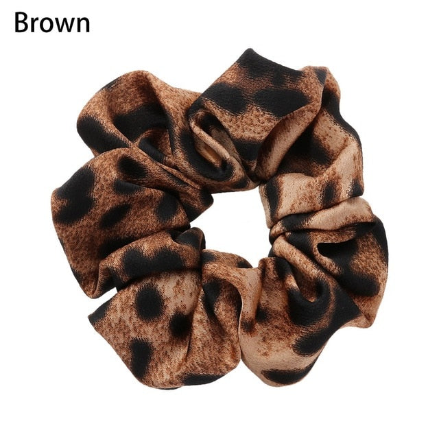 1Pc Women's Fashion New Animal Leopard Hair Scrunchies Elastic Rubber Band Hair Rope Ponytail Holder Hairbands Hair Accessories