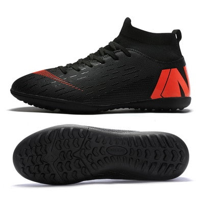 NEW 2019 Turf Indoor Men Women Soccer Shoes Kids Futsal Cleats Hard Court Training TF Football Boots Sport Sneakers Size 35-46