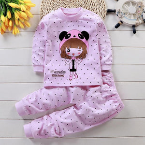 Children Pajamas Baby Clothing Set Kids Unicorn Cartoon Sleepwear Autumn Cotton Nightwear Boys Girls Animal Pyjamas Pijamas Set