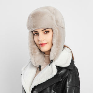 Womens Earcuff Hats Winter Warm Earmuffs Thicken Ear-flapped Hat Female Faux Fur Bomber Hats Fashion New 7 Colors