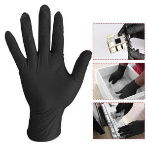 20 Pcs Black Blue Disposable Latex Gloves For Home Cleaning Medical/Food/Rubber/Garden Gloves Universal For Left and Right Hand
