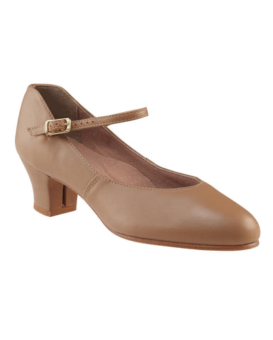 CLEARANCE, Capezio Leather JR. Footlight, Caramel, 551/A