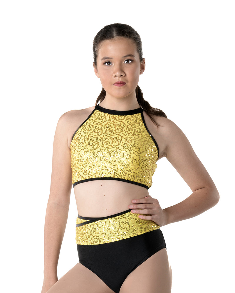 Studio 7, Bright Lights Halter Crop Top, (4 Colours) Adults, ADCT09