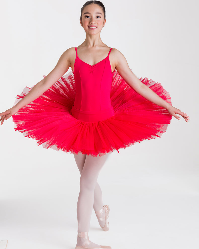 Studio 7 Half Tutu (Practice), Red, Childs, CHHT01