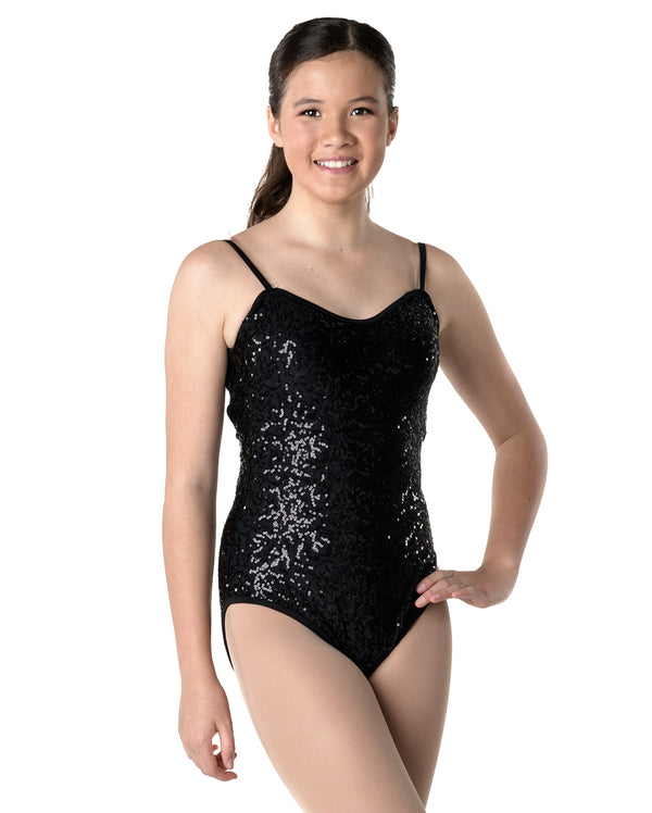 CLEARANCE, Studio 7, Sequin Camisole Leotard, Adults, (6 Colours), ADL02